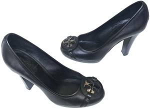 Tory Burch Monogram Black & Silver Pumps