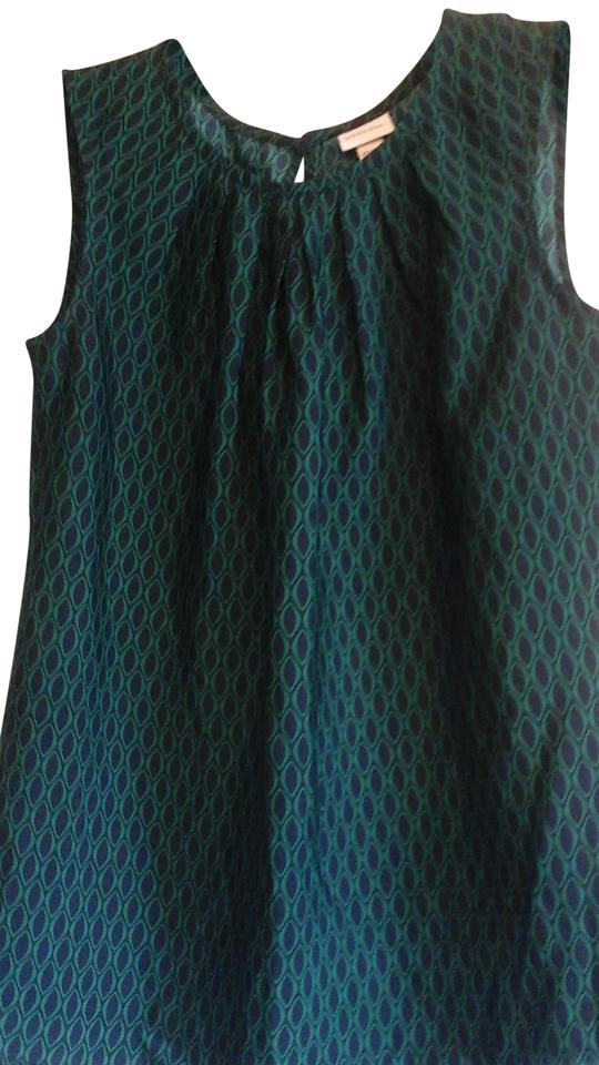 7911ec7e7afd Merona Green and Blue Print Tank Top/Cami Size 2 (XS) - Tradesy