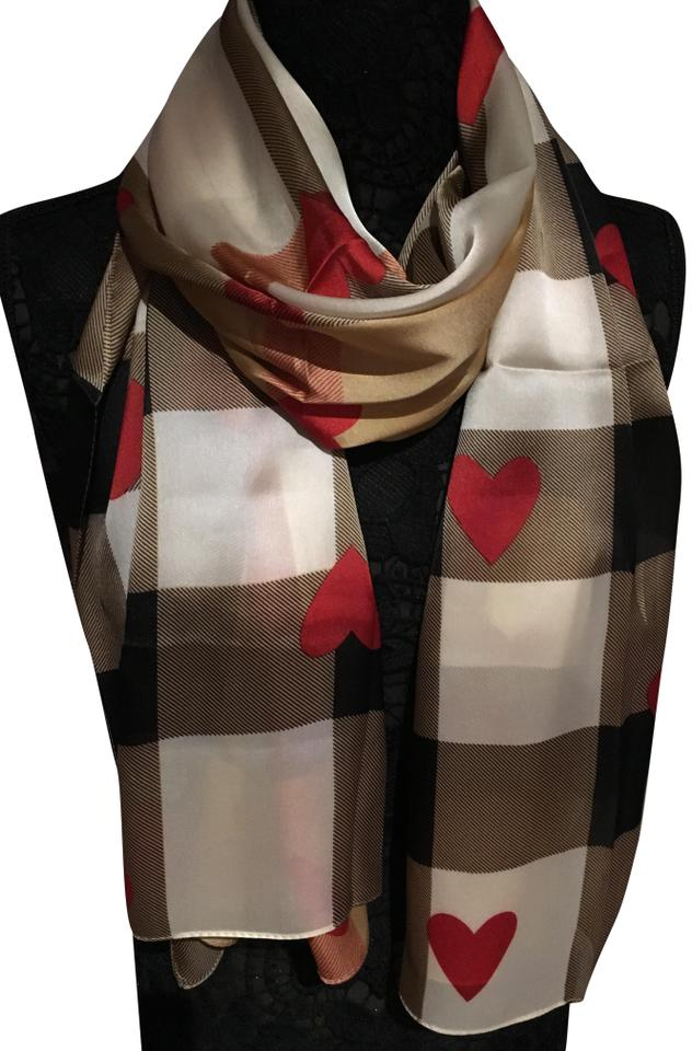 9383a070ed5b Burberry 100% authentic Burberry nova check with red hearts 100% silk scarf  Image 0 ...