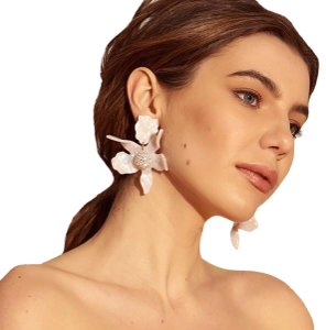 Lele Sadoughi Lily Flower Drop Pierced Earrings