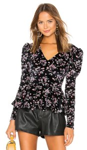 Rebecca Taylor Top Black/Multi