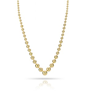 Cartier Estate 18K Yellow Gold Necklace Ball Bead Style