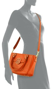 Tory Burch Amanda Mini Satchel in Blood Orange