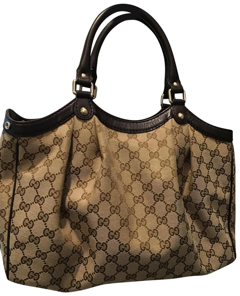 5442aafdb4ee Gucci Sukey Gg Tan Canvas with Leather Shoulder Straps Hobo Bag ...