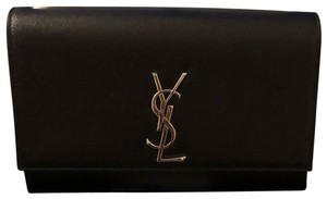 Saint Laurent black with silver hardware Clutch
