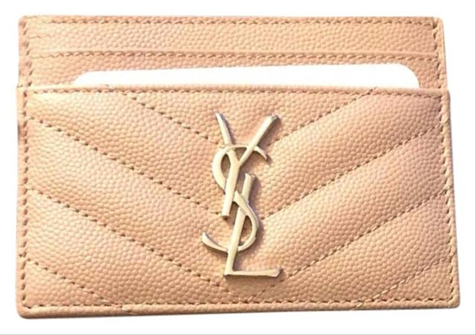 f4182e6b72c Saint Laurent Pink Ysl Card Holder Wallet - Tradesy