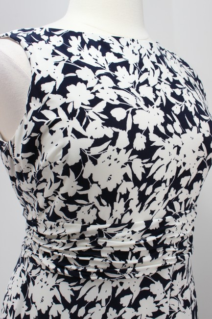 Chaps Floral Jersey Ruching Fit Flare Dress Image 1