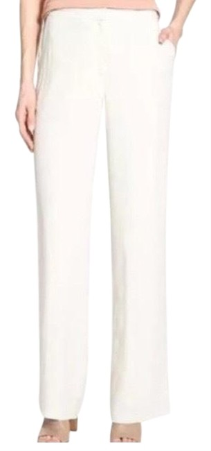 Item - Cream Washable Silk Cotton Leg Pants Size 6 (S, 28)