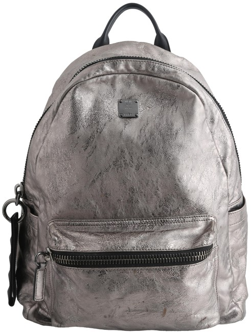 Item - Transformer Foil-leather Silver Cowhide Leather Backpack