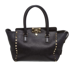 Valentino Rockstud Satchel in 489926 Navy Blue