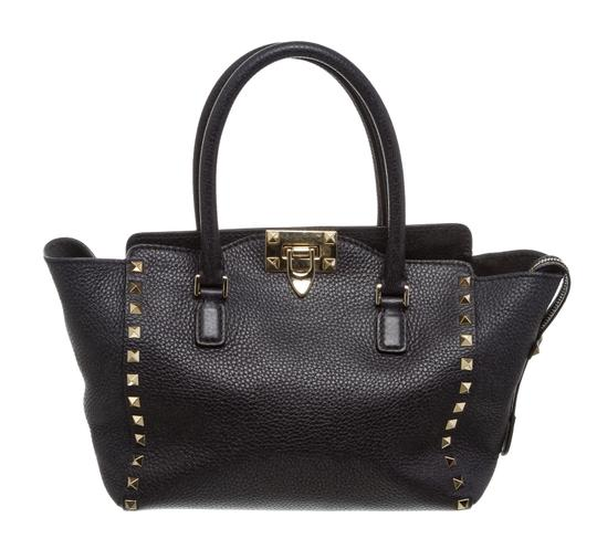 Valentino Rockstud Satchel in 489926 Navy Blue Image 0