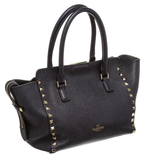 Valentino Rockstud Satchel in 489926 Navy Blue Image 2