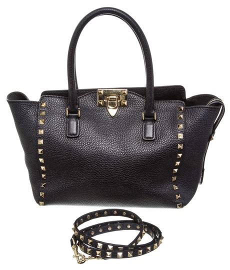 Valentino Rockstud Satchel in 489926 Navy Blue Image 7