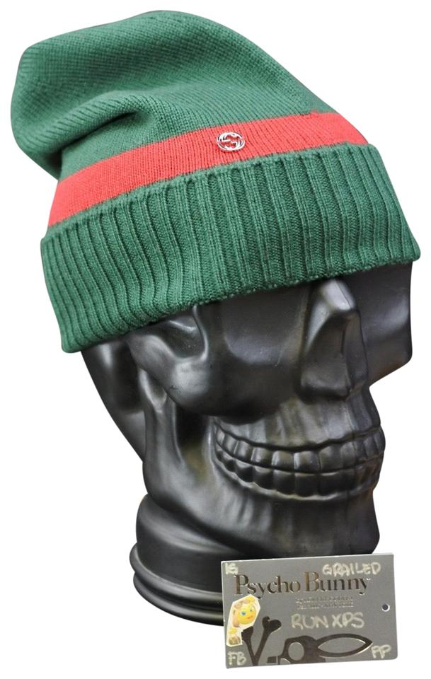 4c500eed3ae34 Gucci Gucci Green Red Wool Gg Beanie Hat Image 0 ...