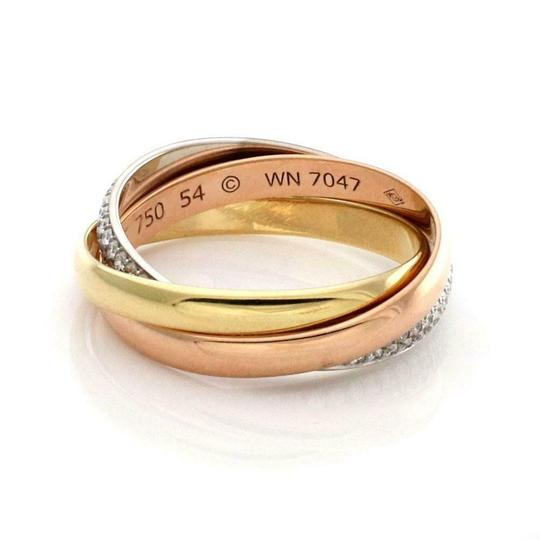 Cartier Trinity Pave Diamond 18k Gold Rolling Band Ring Size 54-US 7 Paper Image 2