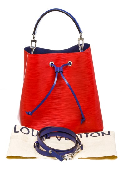 Louis Vuitton Bucket Satchel in 489872 Red Image 7