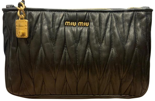 Item - Black Lambskin Leather Clutch