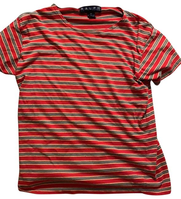Item - Red Blue White Striped Tee Shirt Size 8 (M)
