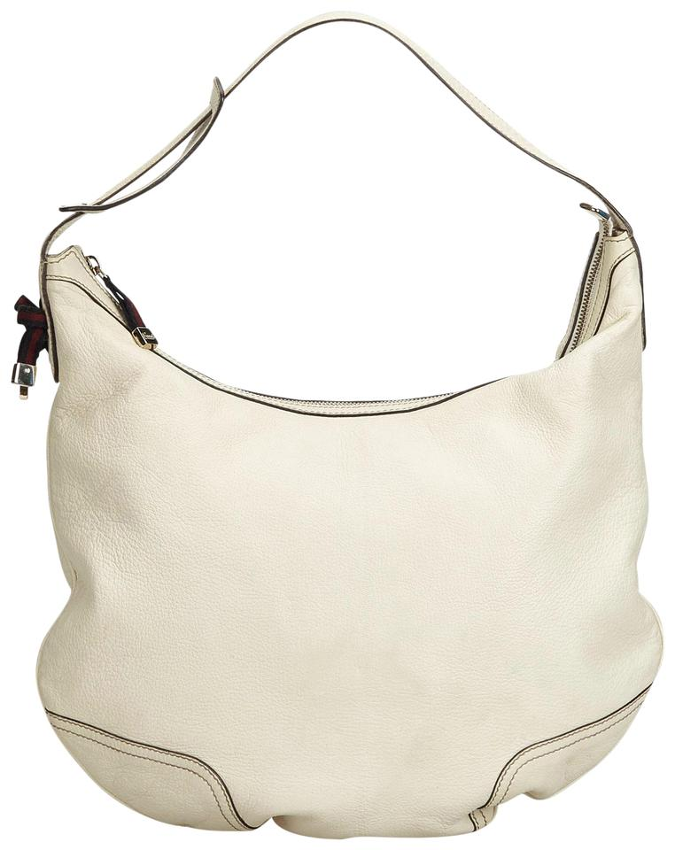 6be73f8c61a6 Gucci Hobo Ivory Princy Italy Medium White Leather Shoulder Bag ...