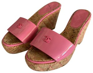 Chanel Pink Wedges
