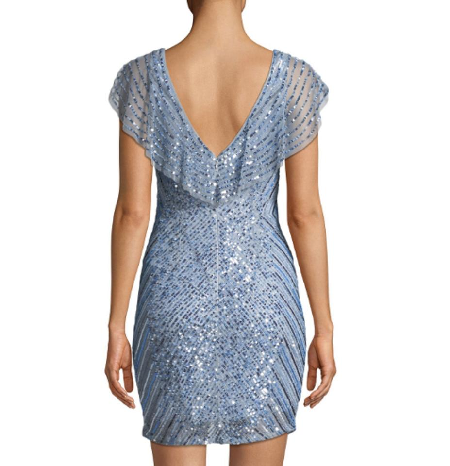4ee3cc9891 Parker Blue Daley Mini W  Beaded Caplet Short Cocktail Dress Size 6 (S) -  Tradesy