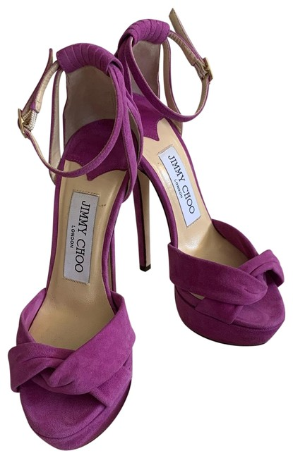 Item - Purple Greta Suede Orchid Stilleto Platforms Size US 4 Narrow (Aa, N)