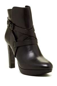 Vince Camuto Vc Leather Bondage Black Boots
