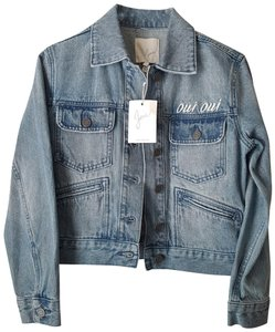 Joie Embroidered blue Womens Jean Jacket