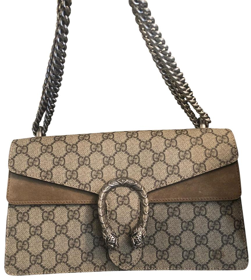 915a9cd15c28 Gucci Dionysus Small Brown Beige Leather Suade Shoulder Bag - Tradesy