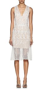 Barneys New York Off-white Sleeveless Lace Casual Dress