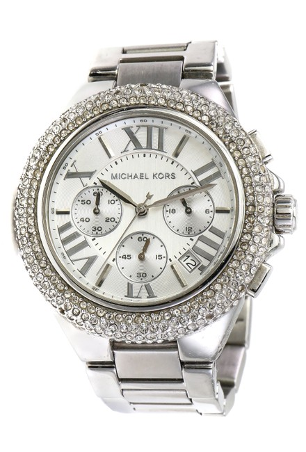 Item - Stainless Steel Paved Crystals Camille Chronograph Watch