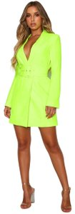 White Fox Blazer Blazer Neon Belted Dress