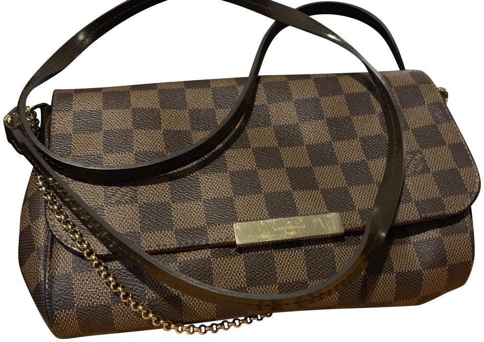 a92ff827c19d8 Louis Vuitton Leather Damier Canvas Checkered Cross Body Bag Image 0 ...