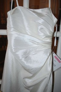 Bill Levkoff Ivory Tissue Taffeta 5501 Formal Bridesmaid/Mob Dress Size 6 (S)