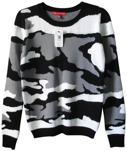 Saks Fifth Avenue Sequin Camouflage And White Camo Sweater