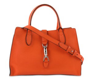 Gucci Small Soft Jackie Calfskin Satchel in Orange