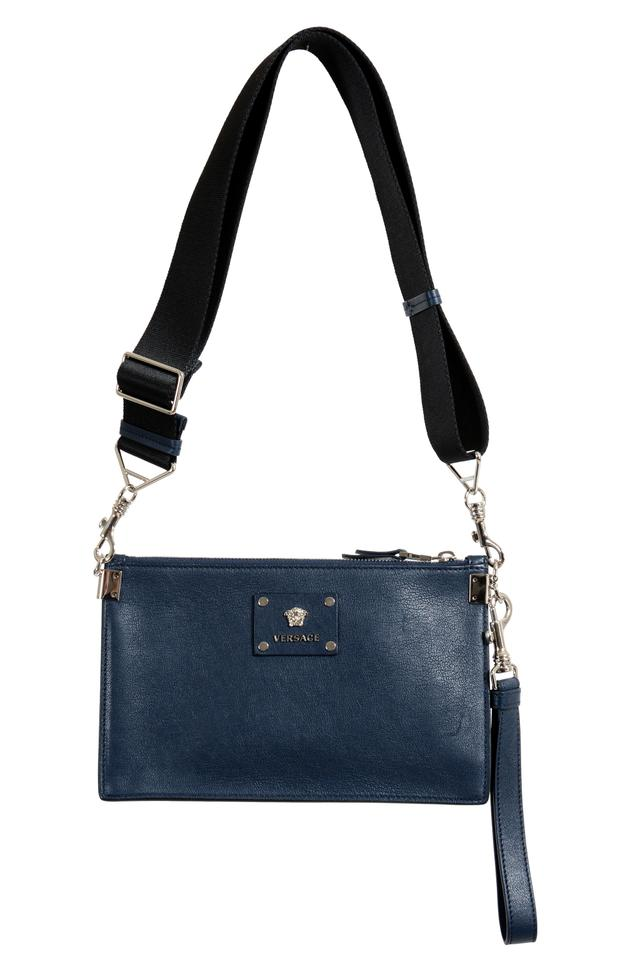 eb943d7c27 Versace Crossbody Women's Navy Leather Shoulder Bag - Tradesy