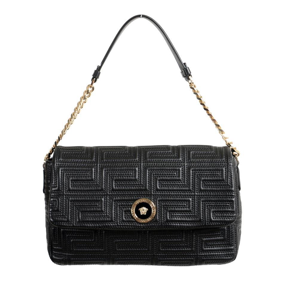 0555ade974 Versace Women's Black Leather Shoulder Bag - Tradesy