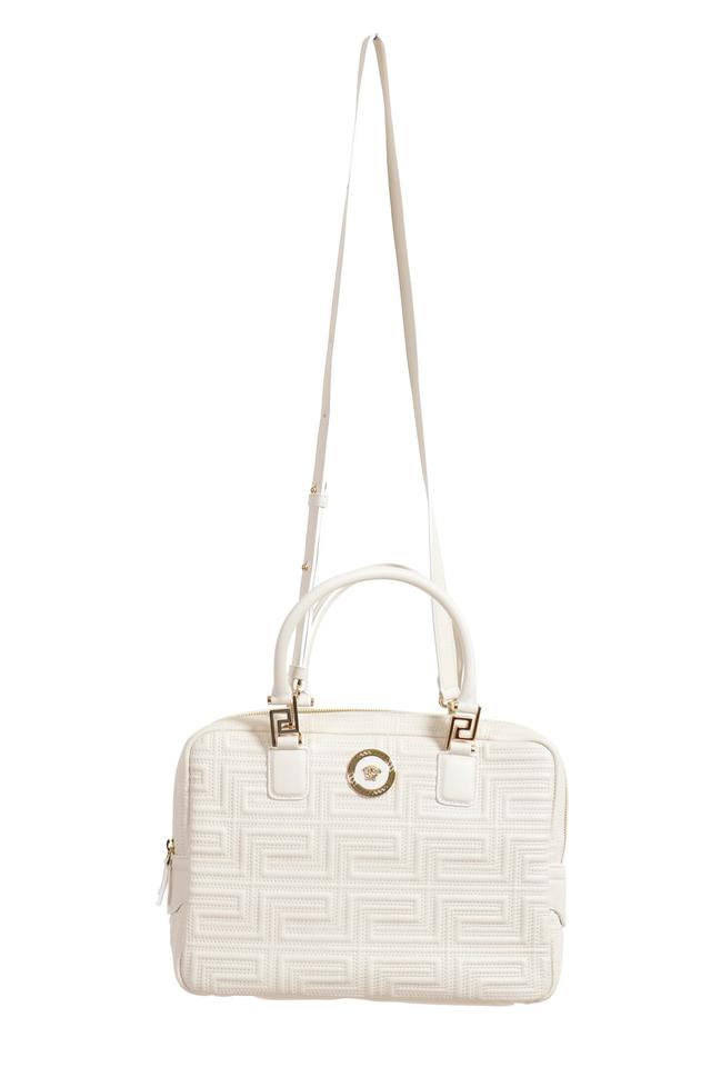 41a2a58eda Versace Women's Handbag White Leather Shoulder Bag - Tradesy