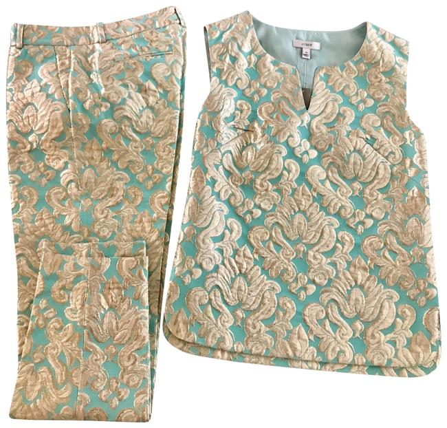 Item - Gold and Turquoise Tunic Set ...top 00 ... Is 0 Pant Suit Size 0 (XS)