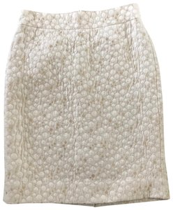 J.Crew Skirt ivory and gold