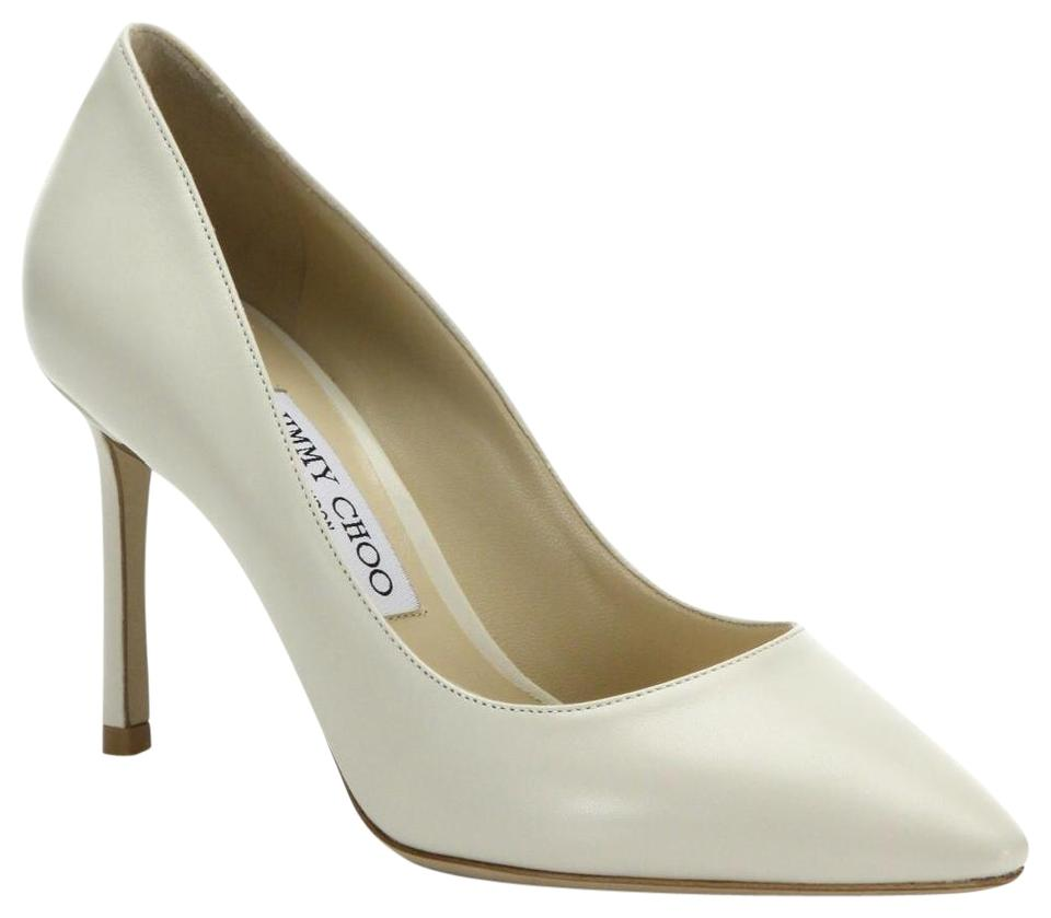 6cdb3d5e8777 Jimmy Choo Chalk Romy Leather Point 10 Pumps Size EU 40 (Approx. US ...