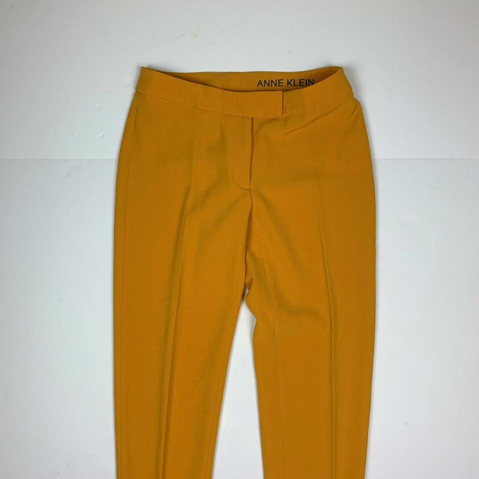 9a738cd7c16cd Anne Klein Yellow Pants Slim Ankle Crepe Women 4 New Trouser/Wide Leg Jeans  Size 27 (4, S)