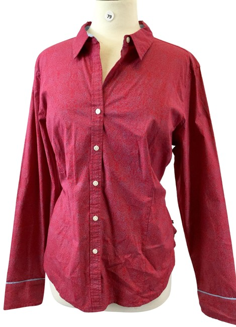 Item - Red Button-down Top Size 16 (XL, Plus 0x)