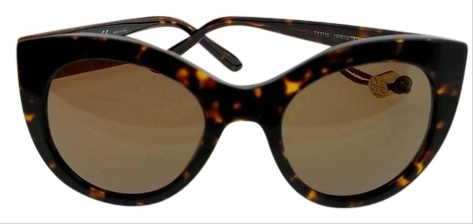 b472146f67ed Tory Burch Ty7115-137873-51 Cat Eye Women's Tortoise Frame Brown Lens  Sunglasses