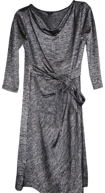 Item - Black & White And Tie Mid-length Work/Office Dress Size Petite 2 (XS)