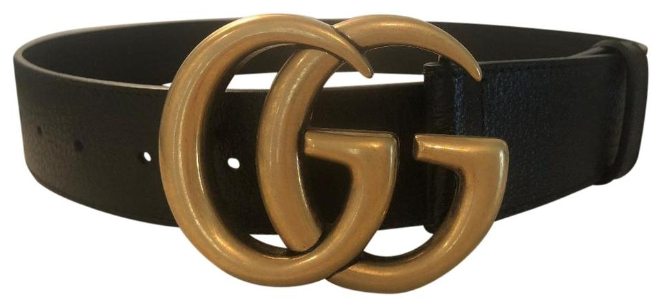 2664a6bb9ff Gucci Black Leather with Double G Buckle - 26 Inches Belt - Tradesy