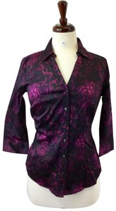 212 Collection Button Down Shirt Purple