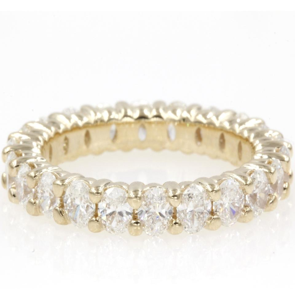 5197497b071a97 14k Yellow Gold 2.70 Carat Oval Shape Anniversary Eternity Band Engagement  Ring