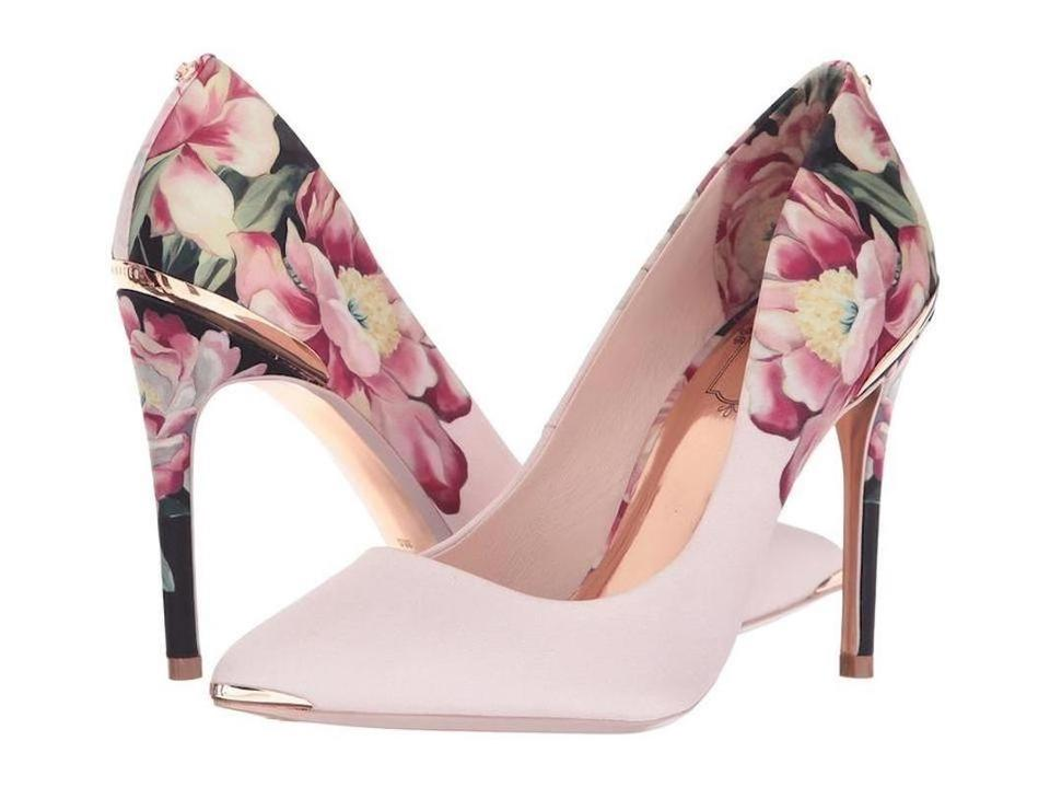 1ce1678593f Ted Baker Pink Pretty Blooms Into Floral Print Pumps Size US 8.5 ...